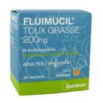 FLUIMUCIL EXPECTORANT ACETYLCYSTEINE 200 mg SANS SUCRE, granulés pour solution buvable en sachet édulcorés à l'aspartam et au sorbitol à Agen