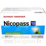 NICOPASS 1,5 mg SANS SUCRE MENTHE FRAICHEUR, pastille édulcorée à l'aspartam et à l'acésulfame potassique à Agen