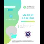 Masque Barrière Non Médical Enfant (4/10 Ans) Blancs B/6 à Agen