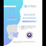 Masque Barrière Non Médical Adulte Blancs B/6 à Agen