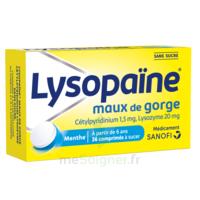 LysopaÏne Comprimés à Sucer Maux De Gorge Sans Sucre 2t/18 à Agen