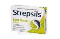 STREPSILS CITRON SANS SUCRE, pastille édulcorée à l'isomalt, au maltitol et à la saccharine sodique à Agen