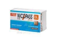 NICOPASS REGLISSE MENTHE 2,5 mg SANS SUCRE, pastille édulcorée à l'aspartam et à l'acésulfame potassique à Agen