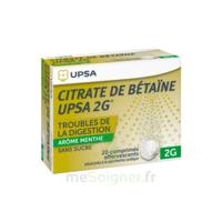 Citrate De Bétaïne Upsa 2 G Comprimés Effervescents Sans Sucre Menthe édulcoré à La Saccharine Sodique T/20 à Agen