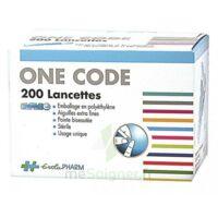 One Code Lancette Glycémie Pour Autopiqueur B/200 à Agen