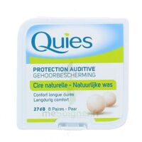 QUIES PROTECTION AUDITIVE CIRE NATURELLE 8 PAIRES à Agen