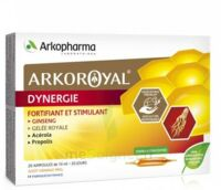 Arkoroyal Dynergie Ginseng Gelée Royale Propolis Solution Buvable 20 Ampoules/10ml à Agen