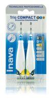 Inava Brossettes Tri Compact étroit  012 Noir 0,6mm/ Bleu 0,8mm/ Jaune 1mm à Agen