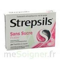 Strepsils Fraise Sans Sucre, Pastille édulcorée à L'isomalt, Au Maltitol Et à La Saccharine Sodique à Agen