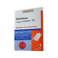 DICLOFENAC RATIOPHARM CONSEIL 1 %, emplâtre médicamenteux à Agen