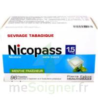 Nicopass 1,5 Mg Pastille Sans Sucre Menthe Fraîcheur Plq/96 à Agen
