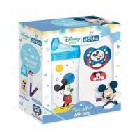 DODIE Mon Coffret Mickey (1 biberon Initiation+ 330ml bleu, 1 sucette anatomique +18 mois, 1 attache sucette) - Disney Baby à Agen