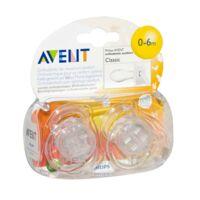 AVENT Sucette silicone 0-6mois transparente B/2 à Agen