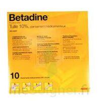 Betadine Tulle 10 % Pans Méd 10x10cm 10sach/1 à Agen
