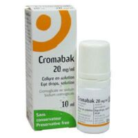 CROMABAK 20 mg/ml, collyre en solution à Agen