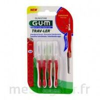 Gum Trav - Ler, 0,8 Mm, Manche Rouge , Blister 4 à Agen