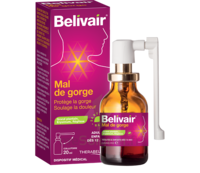 Belivair Collutoire mal de gorge 20ml à Agen
