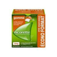 Nicorette 2 mg Gomme à mâcher médicamenteuse sans sucre fruits Plq/210 à Agen