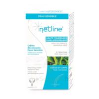 Netline Crème visage/corps décolorante peau sensible 30+30ml à Agen