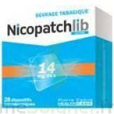 NICOPATCHLIB 14 mg/24 h Dispositifs transdermiques B/28 à Agen