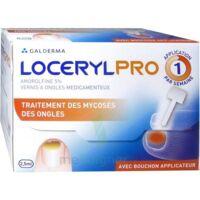 LOCERYLPRO 5 % V ongles médicamenteux Fl/2,5ml+spatule+30 limes+lingettes à Agen