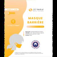 Masque Barrière Non Médical Enfant (11/16 Ans) Blancs B/6 à Agen