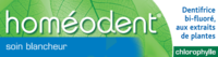 Boiron Homéodent Soin Blancheur Pâte Dentifrice Chlorophylle 2t/75ml à Agen