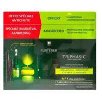 René Furterer Triphasic Progressive Sérum Antichute Coffret 8 Flacons X 5,5ml + Shampoing Stimulant 100 Ml à Agen